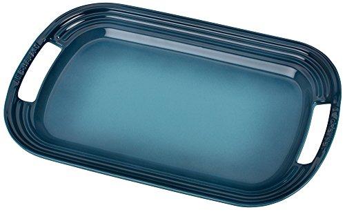 "Le Creuset Stoneware Oval Serving Platter, 16.25"""