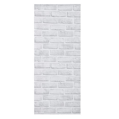 Alvinlite Papel Pintado, Etiqueta engomada de la Pared del Papel Pintado del Modelo del ladrillo Blanco para la decoración del Comedor del Dormitorio de la Sala de Estar
