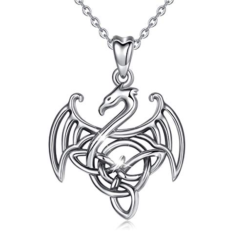 Dragon Necklace for Women CELESTIA 925 Sterling Silver Necklace Animal Jewelry Gifts for Women - 18 Inch Chain