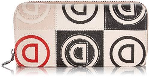 Desigual Mone_Logo Maria, Billetero de Patch en Logomanía para Mujer, Beige (Beige), 3x9.5x20.2 cm (B x H x T)