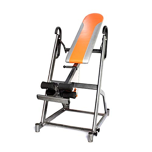Check Out This FQCD Deluxe Inversion Table with Adjustable Head Pillow & Lumbar Support Pad Yoga Inv...