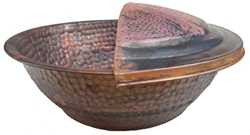 Egypt gift shops Copper Basin Homemade Foot Soaking Treatment Fitness Wellness Gym Massage Skin Wash Pedicure Spa Beauty Salon Pain Stress Inflammation Relief + Foot Rest