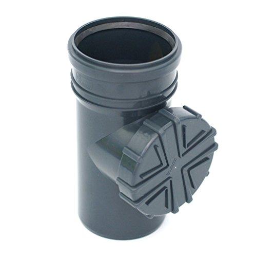 Regenrohrfilter Fallrohrfilter mit Laubfang für KG/HT Rohr DN100 Ø110 (GRAPHITE)