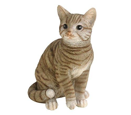 Dehner - Figura de Gato para decoración, en poliresina, Gris (Aprox. 31x 25x 17cm)