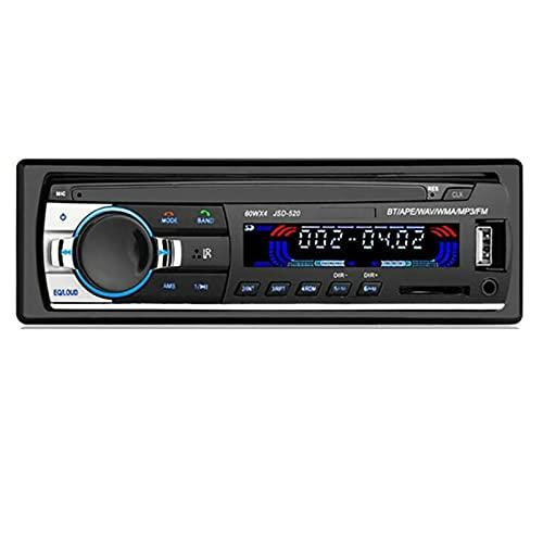 XINLEI Radio de Coche Single DIN Bluetooth 2.0 Auto Radio estéreo FM MP3 Música USB Digital Bluetooth Audio JSD-520 Reproductor Multimedia estéreo