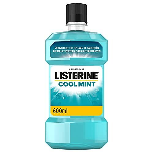 Listerine Cool Mint Mondwater, Mondspoeling Met Intens Frisse Muntsmaak, Bestrijdt Schadelijke Bacteriën Voor Gezond…