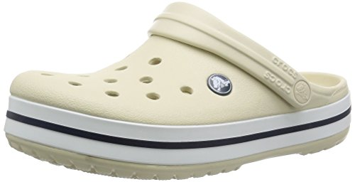 Crocs Crocband U, Zuecos Unisex Adulto, Blanco (White), 38-39 EU