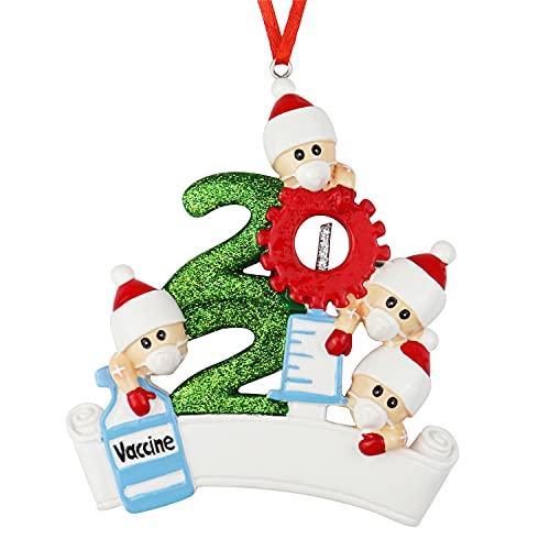 decorazioni natalizie 2021 Decorazioni per albero di Natale personalizzate in 3D