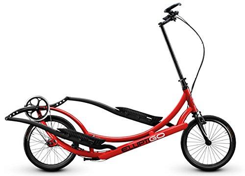 ElliptiGO 8C Long Stride Outdoor Elliptical Bike and Best Hybrid Indoor Exercise Trainer, Red