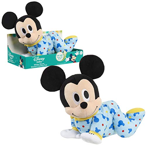 Disney Baby Musical Crawling Pals Plush, Mickey, Multi-Color