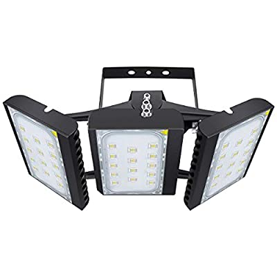 LED Flood Light, STASUN 300W 27000lm Security Lights with 330°Wide Lighting Area, OSRAM LED Chips, 6000K Daylight, Adjustable Heads, IP66 Waterproof Outdoor Lighting for Yard Street Parking Lot