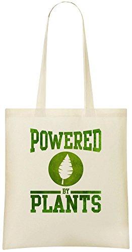 Angetrieben von Pflanzen - Powered By Plants Custom Printed Grocery Tote Bag - 100% Soft Cotton - Eco-Friendly & Stylish Handbag For Everyday Use - Custom Shoulder Bags