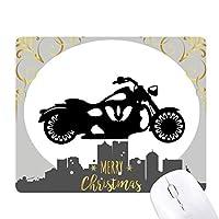 オートバイの機械的なシルエット・パターン クリスマスイブのゴムマウスパッド