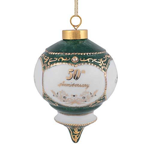CBE Happy 50th Wedding Anniversary Victorian 4.5 Inch Porcelain...