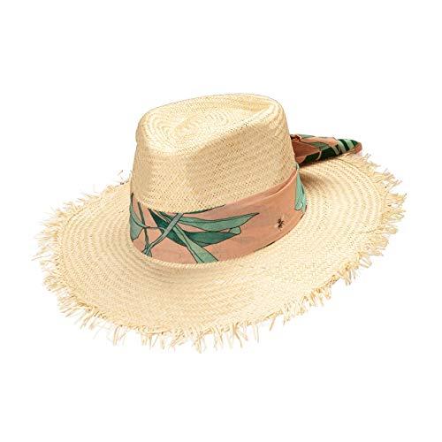 CODELLO Damen Strohhut Hut, beige, Einheitsgröße