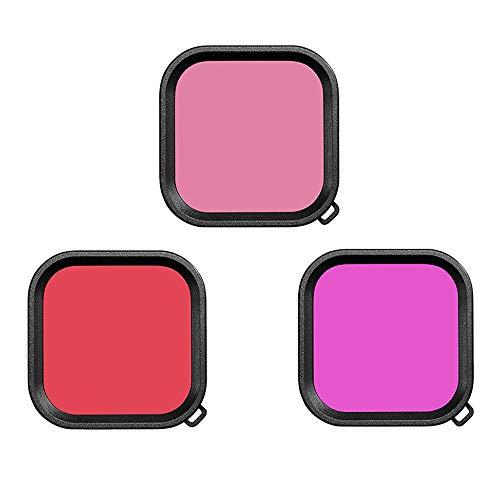 Dasorende 3 Pack Filter Kit Rot Magenta Schnorchel Objektiv Farb Filter für Hero 8 Schwarz Super Suit GEH?Use Fall Zubeh?R