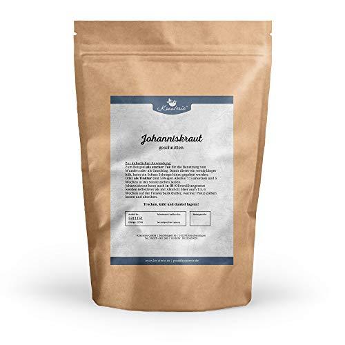 Krauterie Johanniskraut in sehr hochwertiger Qualität, frei von jeglichen Zusätzen, als Tee (Hypericum perforatum) – 500 g