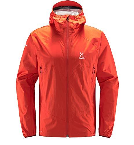 Haglöfs Regenjacke Herren Regenjacke L.I.M Proof Multi Jacket Wasserdicht, Winddicht, Atmungsaktiv Small Habanero XL XL Extra Large