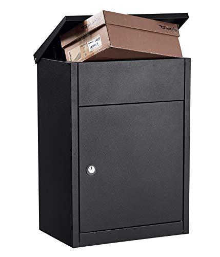 Allux 500 F54512 Briefkasten, Schwarz, 530 x 380 x 250 mm