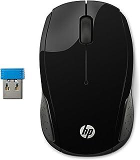 HP 200 RF inalámbrico Óptico 1000DPI Ambidextro Negro - Ratón (Ambidextro, Óptico, RF inalámbrico, 1000 DPI, Negro)