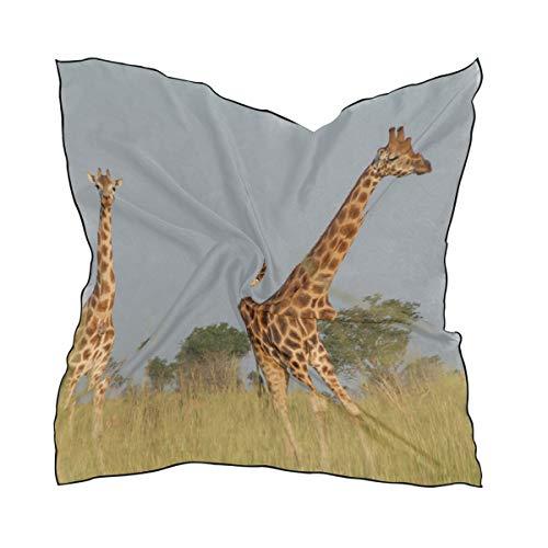 MONTOJ - Bufandas cuadradas para mujer, diseño de jirafa africana