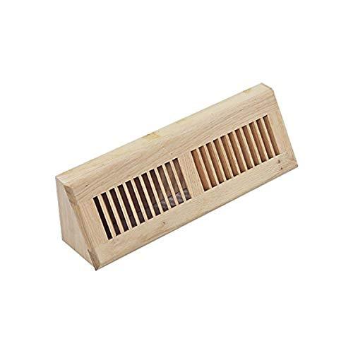 WELLAND15 Inch White Oak Baseboard Vents Hardwood Vent Baseboard Diffuser Wall Register ,Unfinished Vent.