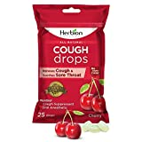 Herbion Naturals Cough Drops with Flavor Oral Anesthetic, Relieves Cough, Soothes Sore Throat and Dry Mouth Assorted Cherry