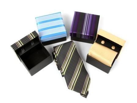 DISOK - Set Corbata Y Gemelos En Estuche Regalo A Juego - Corbatas para Bodas, Corbatas Detalles y Regalos Bodas Baratas para Regalar Invitados