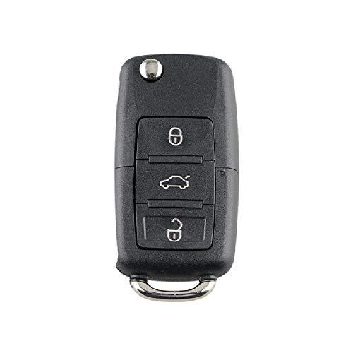 TGBVReplace 3BUT Carcasa de Llave remota de Coche para VW Volkswagen Polo Passat B5 Golf MK5 Beetle para Seat Altea Leon Toledo Carcasa de Llave de Coche