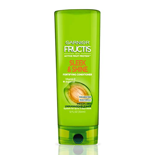 Garnier Fructis Sleek & Shine Conditioner, Frizzy, Dry, Unmanageable Hair, 12 fl. oz.