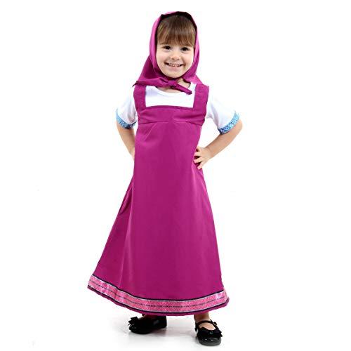 Fantasia Masha Infantil Sulamericana Fantasias Rosa M 6 Anos