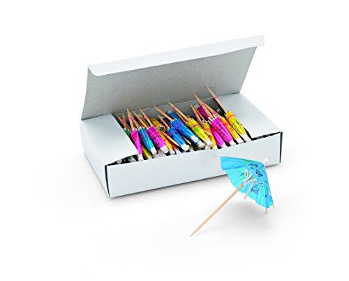 Eisschirmchen Set - unsortiert, farbig (grün, blau, gelb, orange und rosa) / Anzahl: 144 Stück