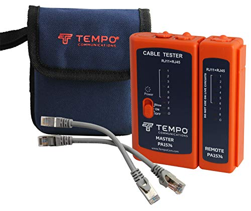 Tempo Communications PA1574 LAN RJ45 Network Cable Tester (Latest Model)