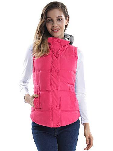 OCHENTA Damesmantel zonder mouwen katoen dik herfst winter vest casual capuchon sportief