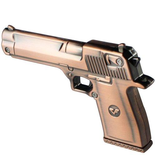niceEshop (TM) - Chiavetta USB 2.0 a forma di pistola in metallo da 16 GB, colore: rame