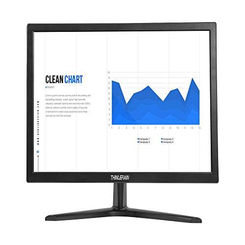 Thinlerain 17 Zoll PC Monitor 1280 x 1024 LED-Bildschirm 4: 3, 60 Hz, 5 ms Reaktionszeit, VGA/HDMI/VESA, TN-Panel-Monitor, eingebaute Lautsprecher