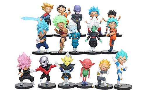 LOTE de 16 figuras de Dragon Ball DBZ DBS DB GT PVC