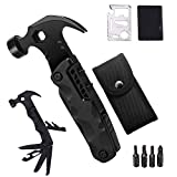 Multi Tool for Men Gift Set,Multifunctional Claw Hammer 15 In 1 Multitool Camping Accessories Survival Gear and 10 In 1 Stainless Steel Multitool Card,Gifts for Men,Dad,Husband,Boyfriend