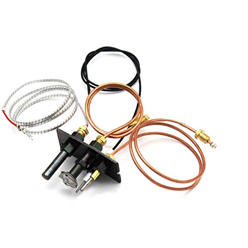 MENSI Propane Natural Gas Pilot Assembly Replacement of HHT Pilot Assembly Part 10002264 for Fireplaces, Fryer with 750mV Thermopile