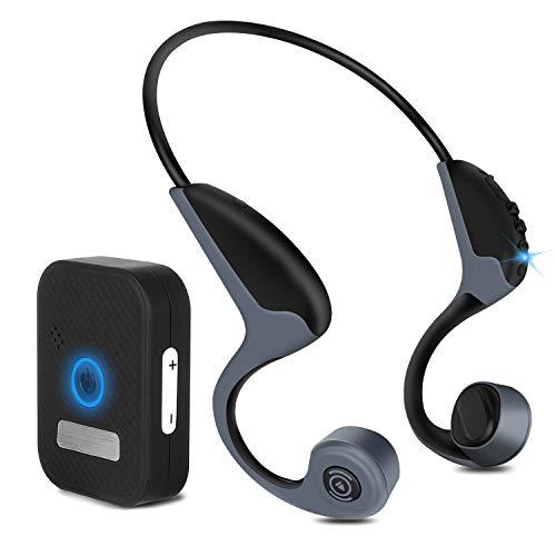 【進化版Bluetooth5.0】骨伝導集音器イヤホンBluetoothヘッドホン 耳が疲れないスポーツヘッドセット 自動ペアリングヘッドホンマイク内蔵 耳掛け式ワイヤレス超軽量イヤホンノイズキャンセル ハンズフリー通話 ブルートゥース防滴防汗iPhone