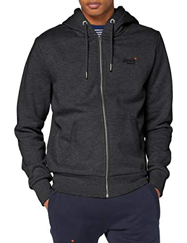 Superdry OL Classic Ziphood NS Pull-Over, Dark Marl, XL Homme