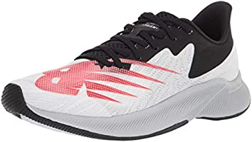 New Balance FuelCell Prism EnergyStreak Men's Running Shoes, White with Neo Flame & Black