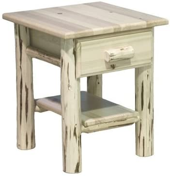 Nightstand with Drawer Inventory cleanup selling sale and - Clear Limited time sale Shelf Lacquer