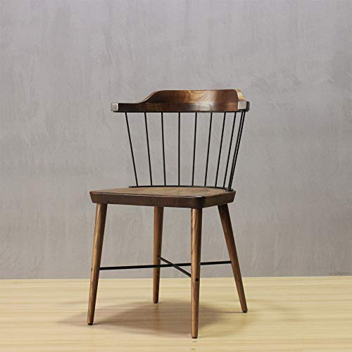 Towero Windsor Chair Stuhl aus massivem Holz Vintage Restaurant Leisure Back Chair (Size : 2Heads)