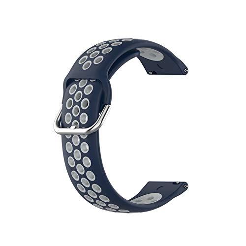 XUEMEI 23mm Sport Silicone Band per Versa Versa 2 Smart Watch Strap Correa Loop per Versa Lite Blaze Sostituzione del Polso (Color : N, Size : for Fitbit Blaze)