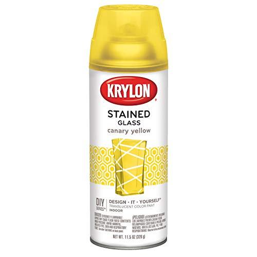 Krylon K09035000 Stained Glass Aerosol Paint, 11.5 oz, Canary Yellow, 6 1