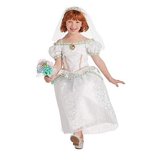 Disney Ariel Wedding Dress and Accessory Set for Girls – The Little Mermaid, Size 5/6 White