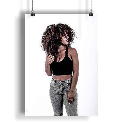 INNOGLEN Schönes sexy vorbildliches Frauen-Foto A0 A1 A2 A3 A4 Satin Foto Plakat a993h