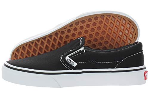 Vans CLASSIC SLIP-ON - zapatilla deportiva de lona infantil, Black/True White, 32 EU