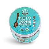 BHU Keto Cookie Dough Snack Jar, Chocolate Chip - 2g Net Carbs, 1g Sugar - An Organic & Vegan Dessert Snack free from Grain, Gluten and Dairy (9oz)